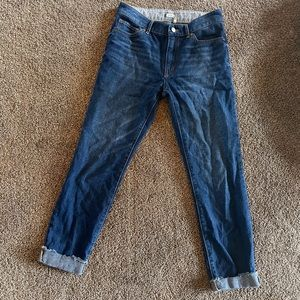 Roxy lightweight straight jeans with cuffed ankle
